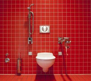 eine behindertengerechte Toilette